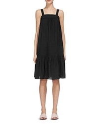 Whistles Simone Ruched Sun Dress Black