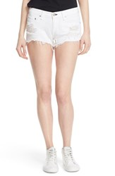 Rag And Bone Women's Rag And Bone Jean Destroyed Cutoff Denim Shorts