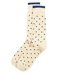 The Men's Store At Bloomingdale's Dots Dress Socks Navy