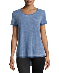 Marc Ny Performance Heathered High Low Tee Poseidon