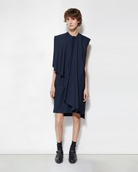 Phoebe English Sleeveless Shirtdress Navy