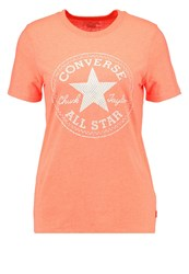 Converse Print Tshirt Lava Heather Red