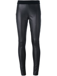 Mcq By Alexander Mcqueen Front Panel Leggings Black
