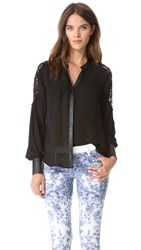 Madison Marcus Devise Blouse Black