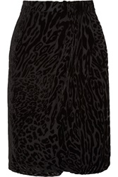 Altuzarra Surrey Leopard Devore Chiffon Pencil Skirt