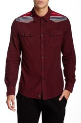 Micros Meadow Navajo Patch Flannel Shirt Red