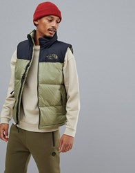 The North Face 1996 Retro Nuptse Vest In Green
