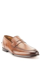 Gordon Rush Coleman Apron Toe Penny Loafer Tan Leather