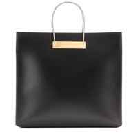Balenciaga Cable Shopper Medium Leather Bag Black