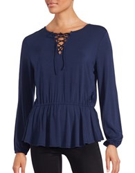 Context Lace Front Peasant Top
