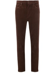 Mother Dazzler Corduroy Trousers Brown