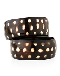 Nest Spotted Horn Bangle Bracelets Set Of 2 Animal Print