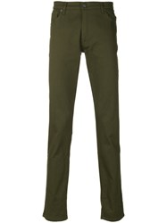 Moschino Straight Leg Trousers Cotton Other Fibers Green