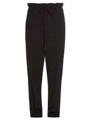 Helmut Lang Pinstriped Dropped Crotch Trousers Black
