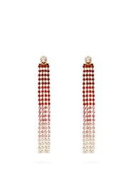 Jacquemus Les Boucles Monaco Crystal Drop Earrings Red