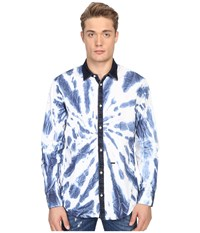Dsquared Tie Dye Wash Relax Dan Shirt White Denim