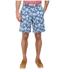 Vineyard Vines Palm Tree Printed Breake Short Flag Blue Men's Shorts Navy