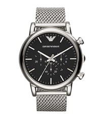 Emporio Armani Stainless Steel Woven Bracelet Watch Silver
