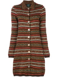 Jean Paul Gaultier Vintage Long Knitted Cardigan Multicolour