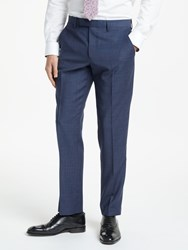 John Lewis Wool Check Tailored Suit Trousers Blue Raspberry