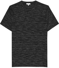 Reiss Max Space Dye Crew Neck T Shirt In Charcoal