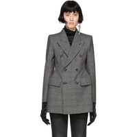 Balenciaga Black And White Hourglass Coat