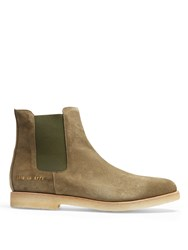 Common Projects Suede Chelsea Boots Khaki