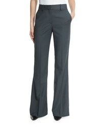 Theory Jotsna Continuous Stretch Wool Pants Black Gray