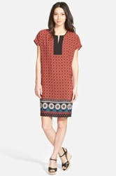 Pleione Print Shift Dress Red