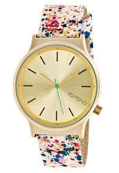 Komono Wizard Print Watch Pink Goldfarben