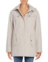 Weatherproof Quilt Accented Hooded Jacket Taupe