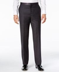 Ryan Seacrest Distinction Men's Slim Fit Gray Flannel Tuxedo Pants Only At Macy's