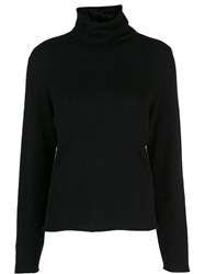 Vince Plain Turtleneck Jumper Black
