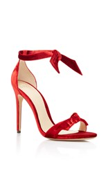 Alexandre Birman Clarita Velvet Sandals Red