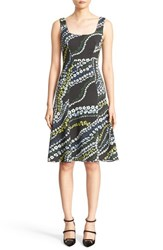 Erdem Women's Tate Floral Print Neoprene A Line Dress
