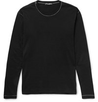 Dolce And Gabbana Cotton Jersey T Shirt Black