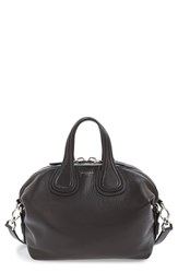 Givenchy 'Small Nightingale' Leather Satchel Black