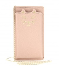 Charlotte Olympia Feline Leather Iphone 5 Case Pink