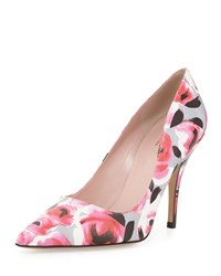 Kate Spade Licorice Floral Pointed Toe Pump Multi Women's Deep Pink