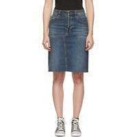 6397 Blue Denim Cut Off Skirt