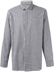 Camo Gingham Print Shirt Black