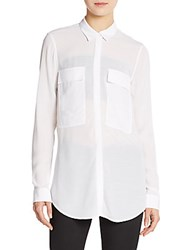 Helmut Lang Button Front Shirt Optic White