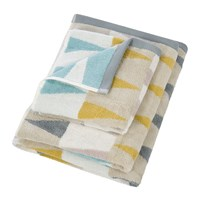 Harlequin Azul Towel Dove And Linden Blue Gray Yellow