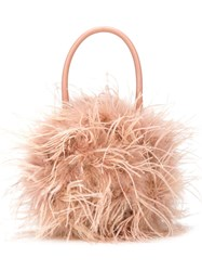 Loeffler Randall Zadie Feather Tote Nude And Neutrals