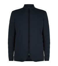 Armani Quilted Down Jacket Navy