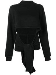 Alexander Wang T By Neck Wrap Front Sweatshirt Black