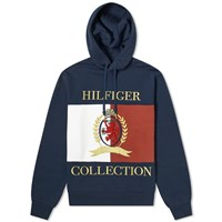 Tommy Jeans Hilfiger Collection Crest And Flag Popover Hoody Blue