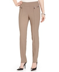 Style And Co. Petite Skinny Leg Pull On Pants Warm Taupe