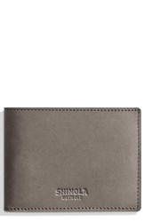 Shinola Outrigger Bifold Leather Wallet Grey Heather Gray