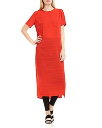 Vince Camuto Novelty Stripe Tunic Dynamic Red